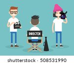 camera crew  director ... | Shutterstock .eps vector #508531990