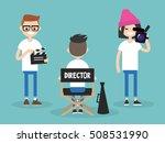 camera crew  director ... | Shutterstock .eps vector #508531990