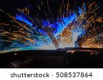 lighting and hot sparks  from... | Shutterstock . vector #508537864