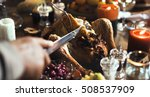 thanksgiving celebration... | Shutterstock . vector #508537909