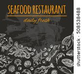 seafood restaurant card on the... | Shutterstock .eps vector #508538488