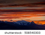 red clouds over the mountains   ... | Shutterstock . vector #508540303