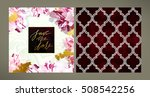 set of trendy vector wedding... | Shutterstock .eps vector #508542256