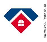 home logo vector. diamond icon. | Shutterstock .eps vector #508542313