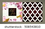 set of trendy vector wedding... | Shutterstock .eps vector #508543810