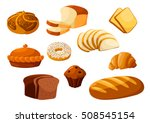 bakery shop vector icons. baked ... | Shutterstock .eps vector #508545154