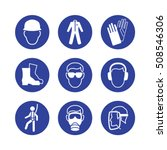 safety wear signs  goggles ... | Shutterstock .eps vector #508546306