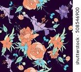 vintage botanical vector flower ... | Shutterstock .eps vector #508546900