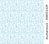 seamless pattern with icons of...   Shutterstock . vector #508551439
