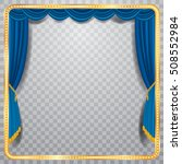 vector stage with blue curtain  ... | Shutterstock .eps vector #508552984