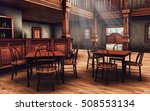 Wooden Interior Of A Wild West...