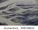 Aerial View Of Glacier River...