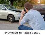 man calling car mechanic... | Shutterstock . vector #508561513