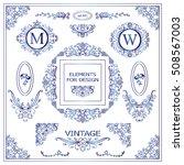 vector set of vintage elements... | Shutterstock .eps vector #508567003