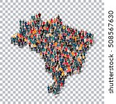 people map country brazil vector | Shutterstock .eps vector #508567630