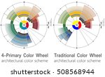 architectural color wheels... | Shutterstock .eps vector #508568944