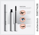 mascara packaging with eye... | Shutterstock .eps vector #508574638