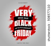 black friday sale promo design... | Shutterstock .eps vector #508577110