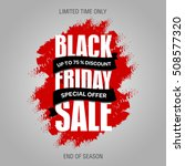 black friday sale promo design... | Shutterstock .eps vector #508577320