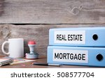 real estate and mortgage. two... | Shutterstock . vector #508577704