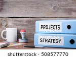 projects and strategy. two... | Shutterstock . vector #508577770