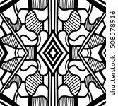 aztec pattern. zentangle... | Shutterstock .eps vector #508578916