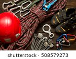 climbing and travel equipment... | Shutterstock . vector #508579273