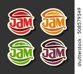 vector set simple fruits jam... | Shutterstock .eps vector #508579549