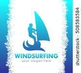 windsurfing logo  man on... | Shutterstock .eps vector #508583584