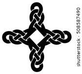 vector template celtic knot for ... | Shutterstock .eps vector #508587490