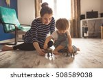 young pregnant mother with... | Shutterstock . vector #508589038