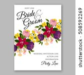 wedding invitation with... | Shutterstock .eps vector #508592269