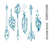 american indians feather arrows ... | Shutterstock .eps vector #508593286