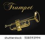 golden trumpet  silhouette.    Shutterstock .eps vector #508593994