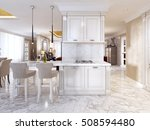 bar counter with bar chairs in... | Shutterstock . vector #508594480