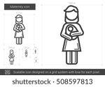 maternity vector line icon... | Shutterstock .eps vector #508597813