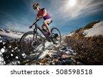 sport. snow mountain bike... | Shutterstock . vector #508598518