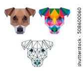 polygon animal pet dog... | Shutterstock .eps vector #508600060
