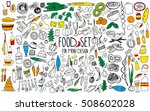 hand drawn food elements. set... | Shutterstock .eps vector #508602028