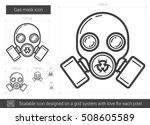 gas mask vector line icon... | Shutterstock .eps vector #508605589