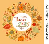 thanksgiving poster or greeting ... | Shutterstock .eps vector #508608499