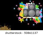 bright musical image on a black ...   Shutterstock .eps vector #50861137