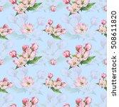 apple blossom. watercolor.... | Shutterstock . vector #508611820
