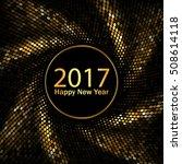 happy new year 2017. swirl... | Shutterstock .eps vector #508614118