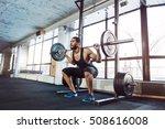 muscular fitness man doing... | Shutterstock . vector #508616008