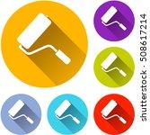 illustration of paint roller... | Shutterstock .eps vector #508617214