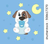 cartoon cute boy puppy in... | Shutterstock .eps vector #508617370