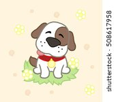 cute puppy  drawing for kids... | Shutterstock .eps vector #508617958