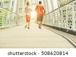two young athletes making...   Shutterstock . vector #508620814