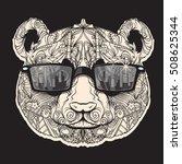 vector beautiful indian panda... | Shutterstock .eps vector #508625344